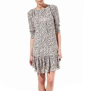Reiss Geri Animal Print Dress